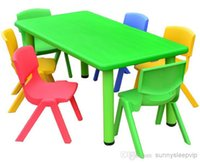 Wholesale nursery area rectangular plastic tables and chairs suit children s game table without chairs