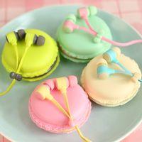 cute mp3 earphone - Hot Sale Macarons Design Earbud Earphones Headset For Girls Cute Universal Headphone For Mp3 Player