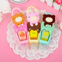 bacterial hand gel - New lovely cute bear design holder Bath Body Works POCKETBAC HAND Anti Bacterial Pink POLAR BEAR Gel Holder with empty bottle