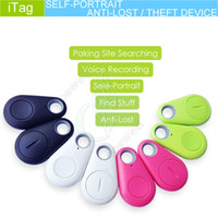 Wholesale Smart Bluetooth Alarm iTag Anti Lost Self Portrait Theft Device mini GPS Tracker Locator Remote control shutter for Android iphone s IOS