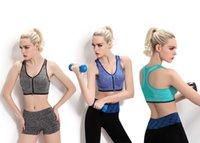adjust level - LEVEL Shockproof Professional Sports Bras Intensive Training Wire Free Wen chest open Active Zipped Run Yoga Women Sport Bra Underwear Hot
