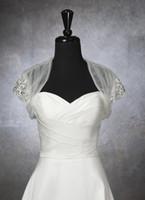 Jackets/Wraps bolero jacket wedding dress - Custom Made Short Bridal Wedding Jacket Short Sleeve LEAVE YOUR SIZE Beads Bolero jacket Bridal Bolero Prom Dress jacket Bolero Bridal Shrug