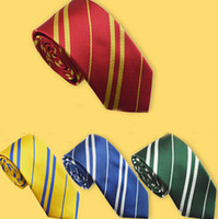 best necktie brands - Best price stylel Handsome Men Silk Neckties Fashion Wedding Brand Man neck ties striped Harry Potter Design neckwear