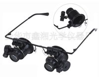 Wholesale Top quality Watch Jeweler LED Repairing Magnifier X Magnifying with LED Lights Glasses Loupe Lens Magnifier