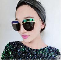popular sunglasses - METALLIC Women s Sunglasses Designer Popular Coating sun glasses New colorful lens oculos de sol Eyewear