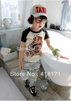 baby happiness - summer wear baby boy t shirts happiness bear short sleeve cotton t shirt for boys Modal