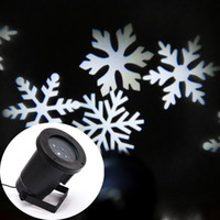 Wholesale White Snowflake laser light for Christmas Festival Garden House Decration