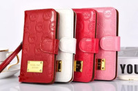 Wholesale Luxury Note Iphone S Plus Leather Case Fashion Style Bling Electroplate Back Case For Samsung IS6 S5 Note Note Iphone S S