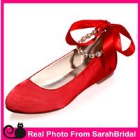 ballerina flats girls - Red New Fashion Hotsale Women s Wedding Bridal Shoes Prom Vintage Evening Party Cocktail Comfy Flats for Bridesmaid Casual Formal Girls shoe