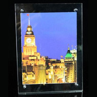 advertising screws - Acrylic Display Photo Frame for Crystal LED Light Box with Screw