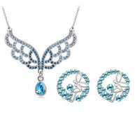 chinese furniture antique - Wicker Furniture Garden Table Balcony Chairs Antique Chinese Style Phoenix Pendant Pendat Necklace Earrings Crystal Jewelry Set a37b69