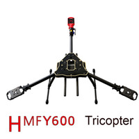 airplane hanging - F10811 HMF Y600 Tricopter Axis Copter Frame Kit w High Landing Gear Gimbal Hanging Rod FPV RC Drone Y3