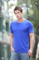 bamboo t-shirt - MRY new bamboo Lauderdale men short sleeve V neck t shirt bamboo fiber business men T shirt