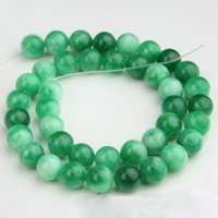 Wholesale 10mm Green Jadeite Natural Round Jade Beads Strand Gemstone Loose Beads Bracelet Necklace Pendent Jewelry Accessories Gift Chirstmas