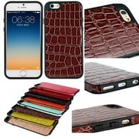 Wholesale iPhone6 Crocodile Grain Patttern PU Leather Case For inch iPhone High Quality Back Cover Shockproof Dustproof Back Skin DHL
