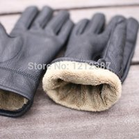 Wholesale 2015 New Winter Men s Fashion Cape glove With a Soft Fluff and Thicken Gift Box HB88