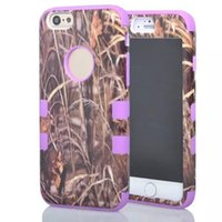 Wholesale 3 in Straw realtree Grass Mossy Camo Tree Hybrid Hard Soft Gel Rubber Silicone Case For iphone G inch Protective Skin Cover