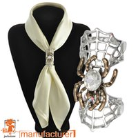 crystal glass award - Straight upscale personality color scarf buckle large glass pearl buckle spell color scarf new fashion scarf buckle awarded