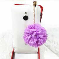 Cheap 5pcs lot Free Shipping Cell Phone Accessories Phone Jewelry Chiffon Flower Dust Plug, Mix Order Available