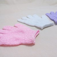 nylon bath glove - Multicolor Body Exfoliating Gloves Bath Rubbing Body Shower Bath Gloves Body Wash Skin Care Shower Nylon Glove MYL