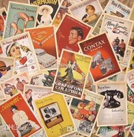 advertisement video - Collection Set cm Vintage Style Old Hollywood Advertisement Theme Postcards Gift Greeting Cards