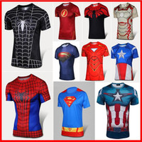 fitness wear training wear - 2016 FASHION SALE The Avengers compression men t shirts Training Sport Running Gym clothes Exercise Fitness Tight Compression fitness wear