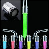Wholesale 2pcs Color RGB Colorful LED Light Water Shower Spraying Head Faucet Bathroom low price