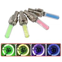 Wholesale Firefly Spoke LED Flash Bike Wheel Lights Lamp Tyre Wheel Valve Cap Neon Light for Bicycle Motorcycle Car Cycling Colors pack DHL