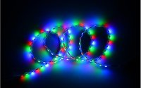 Wholesale 45CM Motorcycle car modification monkey waterproof v flash Great Wall lamp belt of meteor flashing LED DIY lights