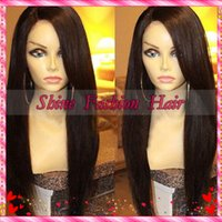 hair wigs wholesale - density Malaysian Virgin Hair Lace Front Wig Full Lace Human Hair Wigs Yaki Straight Bleached Knots