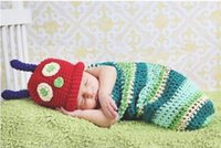 Cheap Wrap Newborn Set Infant Baby Girl Boy Crochet Knit Costume Clothes Photo Photography Prop Outfit Caps Baby Knit Costume