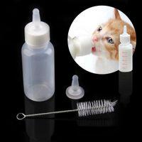 Wholesale High Quality ml Pet Small Dog Puppy Cat Kitten Milk Nursing Care Feeding Bottle Set V1NF