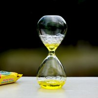Wholesale Cool Magic Valentines Gift Awaglass Hand blown Timer Bubble Hourglass Christmas Gift