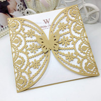 chinese christmas lights - Hollow Out Butterfly Wedding Invitations Cover Factory Wedding Supplies Party Invitation Cards Wraps Laser Cut Invitation Coverage