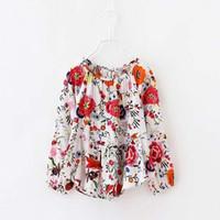 Wholesale Hot Sale Children Shirts Korean Girl Dress Flower Shirt Buy Shirts Children Clothes Spring Long Sleeve T Shirts Girls Shirts