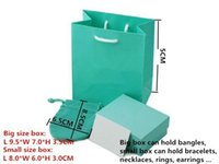 Wholesale Brand Jewelry boxes gift bag silver Velvet Pouch Bag Packaging Paper Bag jewelry sets bag P001