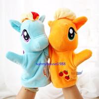 Wholesale 6 Different Sytles My Little Pony Puppet Plush Toys quot cm Applejac Rainbow Dash Fluttershy Pinky Pie Rarity Twilight Sparkle