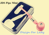 Cheap New JDS Mini Pipe vaporizer K1000 Mini JDS PIPE Kit 450mah batetry with 1.3ml Tank for lady Epipe E-Cigarette kits