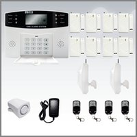 Wholesale Wireless Home Security Digital Burglar Smart GSM Alarm System With Auto Dial LCD Voice N DHL FREE