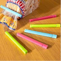 Wholesale Plastic Bag clips Kitchen Tool Storage Food Snack Seal Sealing Bag Clip Sealer Clamp Plus size Hot Sale