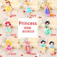 Wholesale Kawaii cartoon flat back planar resin princess Mermaid Cinderella rapunzel Figurine fairy garden decoration craft DIY bow hair accessories