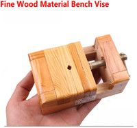 wood clamp - DIY Work Pine Wood Material Bench Vise Vice Jaw Vice Clamp Of MM Width Wood Material To Protect DIY Items