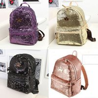 bling backpack - Fashion Crown Paillette Bling Bag Women Backpack Women S Colorful Canvas Backpacks Women Travel Bag College Book School Bag Colors