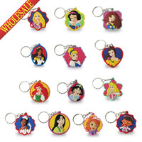 Wholesale Min Order Princess D Keychains Key Ring For Bags wallet Clothing Guaranteed Cartoon Characters Key Accessories Party Favors Gift