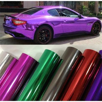 Wholesale Size M Car Plating Film Shiny Chameleon Modify Surface Wrapping Chrome Vinyl Film Bubble Free Chrome Car Wrap Stickers