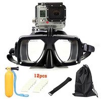 Wholesale Gopro Diving Mask Soft Liquid Silicon Scuba Snorkeling Mask With Clear Tempered Glass Top For Adult Diving
