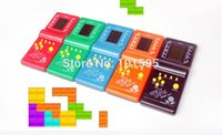 Wholesale Classical Game Machine Black Handled Game Players Overlapping Squares Flying Tetris Game BOYS Loved Toys
