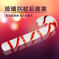 adult sex store - glass lifelike Dick double penis phallic reality female glass products anal plug consoladores adult sex toy store