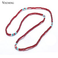 angle bead - 6 Colors Stretch Necklace Round Glass Beads Jewelry Lovely Small Pendant Necklace for Angle Ball Pendant VA Vocheng Jewelry