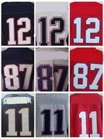 sports jersey - embroidery Tom Brady jersey authentic Rob Gronkowski jersey cheap elite sttiched Julian Edelman jersey sports
